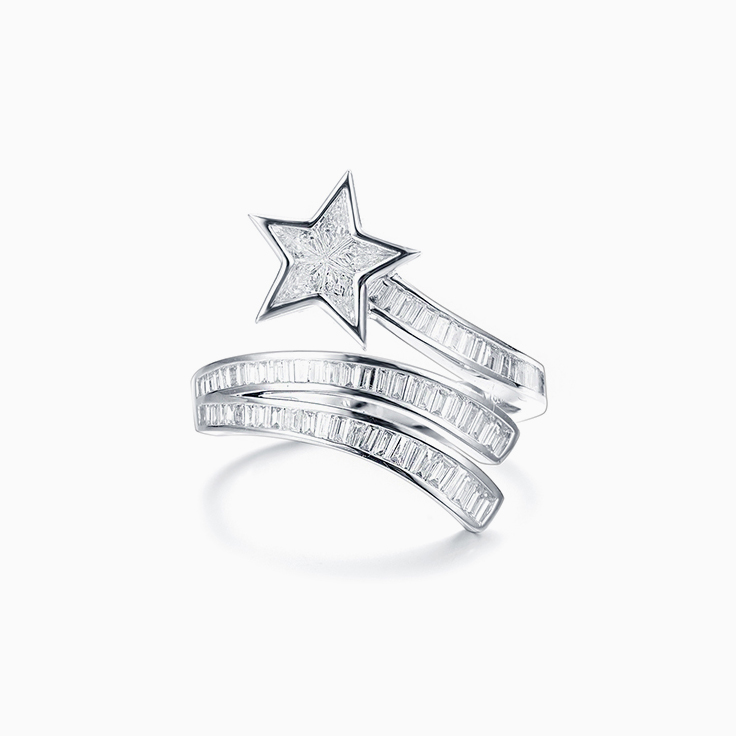 Star Baguette Diamond Ring