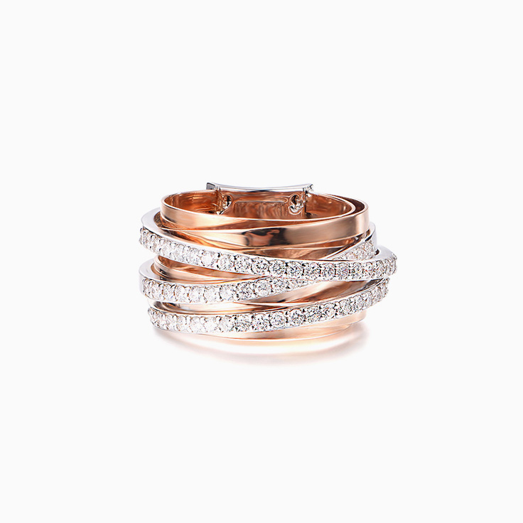 Criss Cross Diamond Dress Ring
