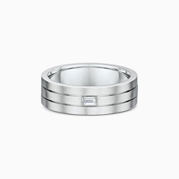 Grooved wedding ring 616A00