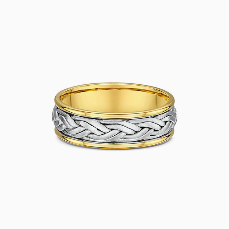 Two tone Braided Men's Ring