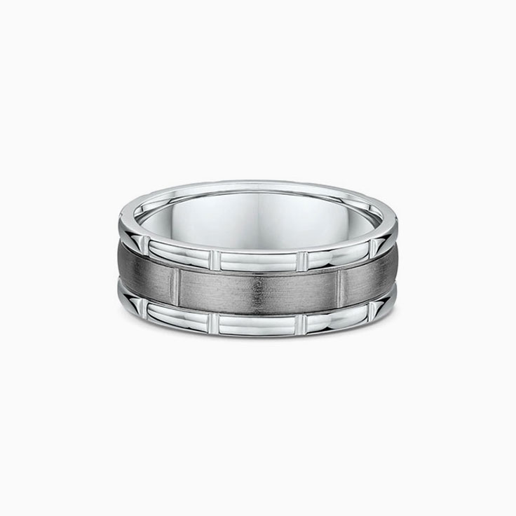 Brushed Mens Wedding Ring 403A05