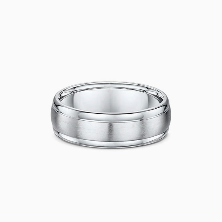Brushed Mens Wedding ring 5020