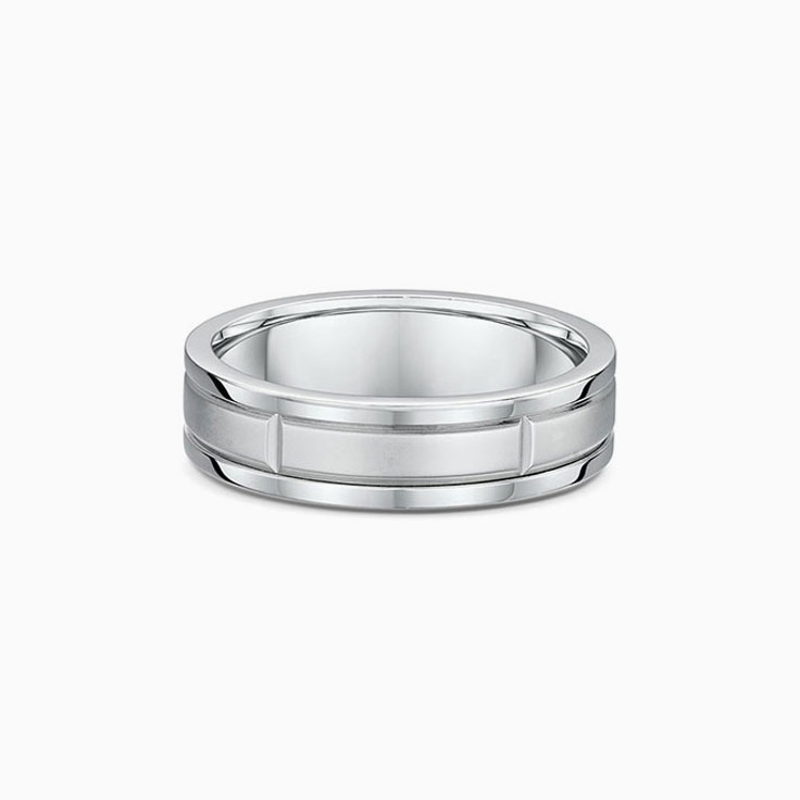 Carved Mens wedding ring