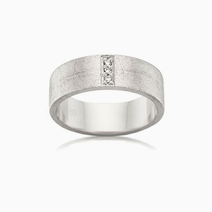 Scratch Finish Mens Ring F3582