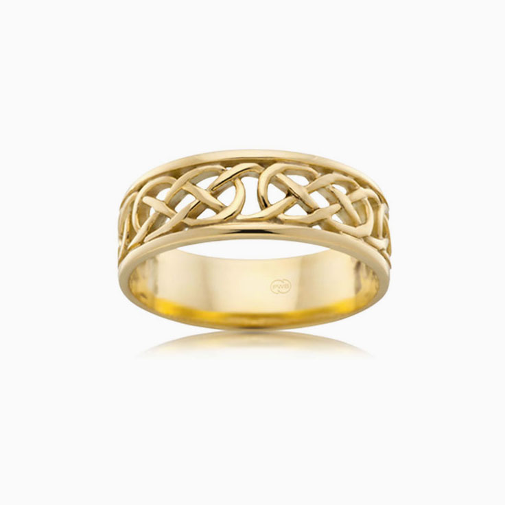 Mesh Pattern Mens Wedding Ring J2650