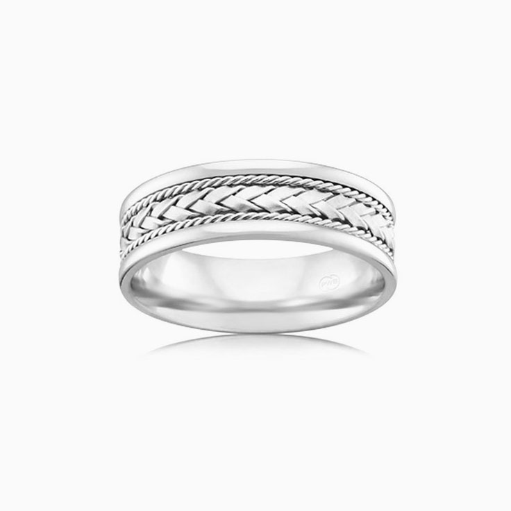 Patterned Mens Wedding ring J2595