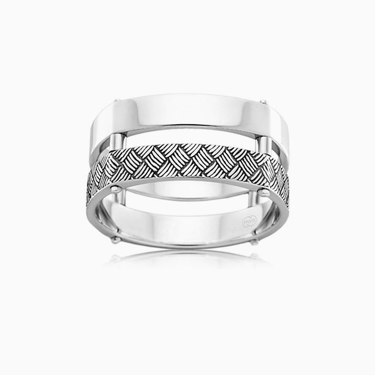 Double Band Mens Ring J4033