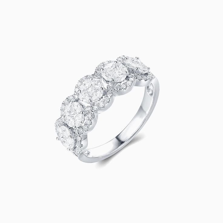 Round Cluster Diamond Band