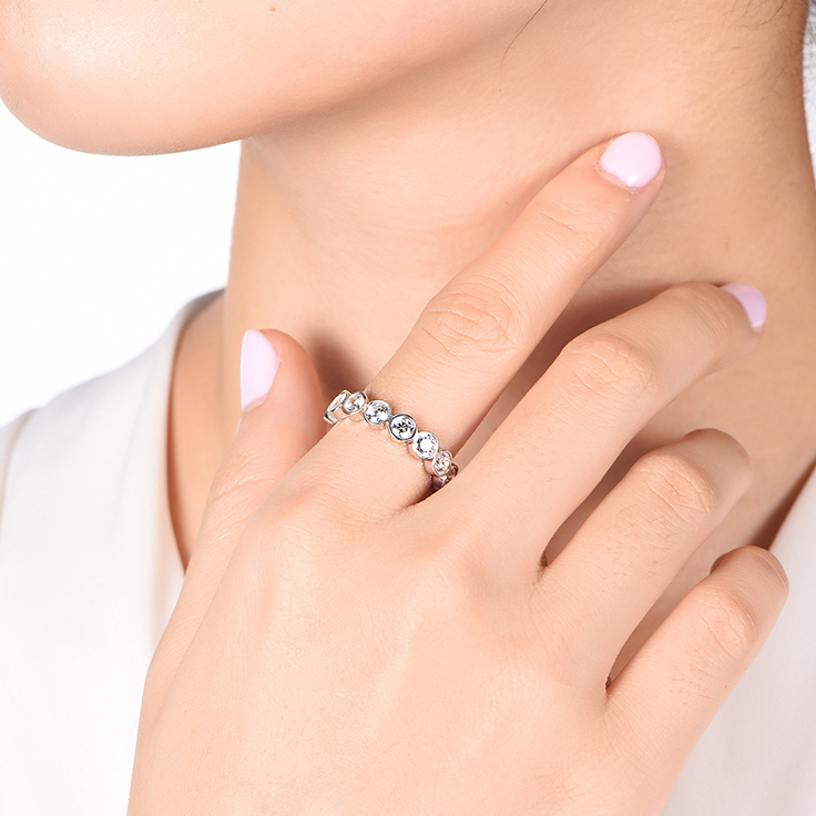 Bezel set Diamond Band