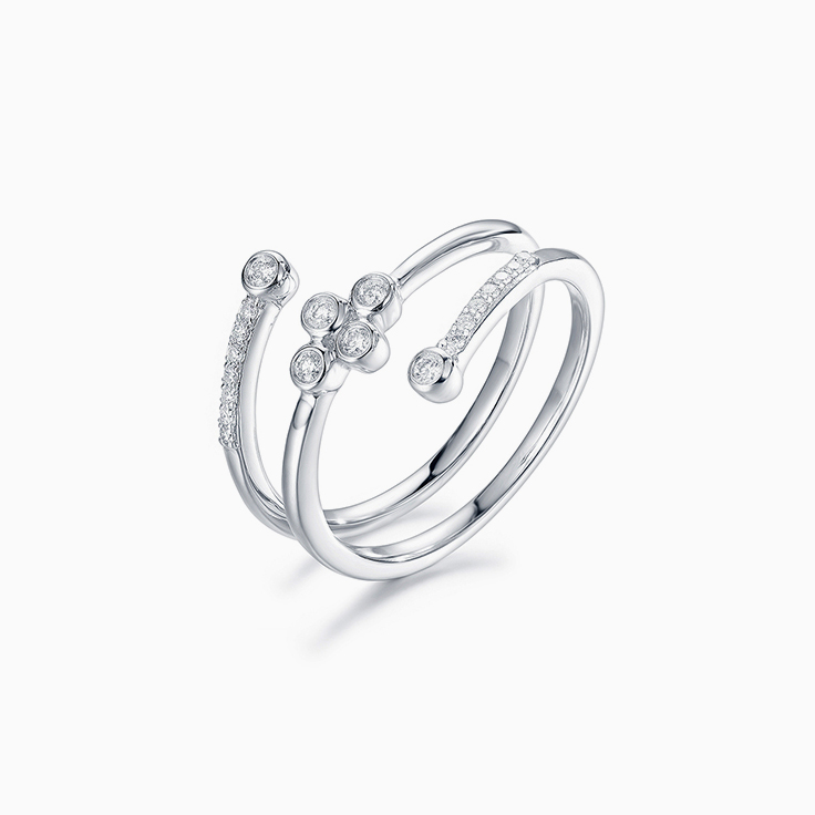 Diamond Triple Row Ring