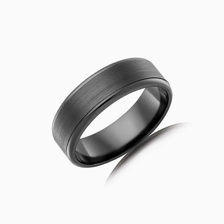 Zirconium Mens wedding band F3511