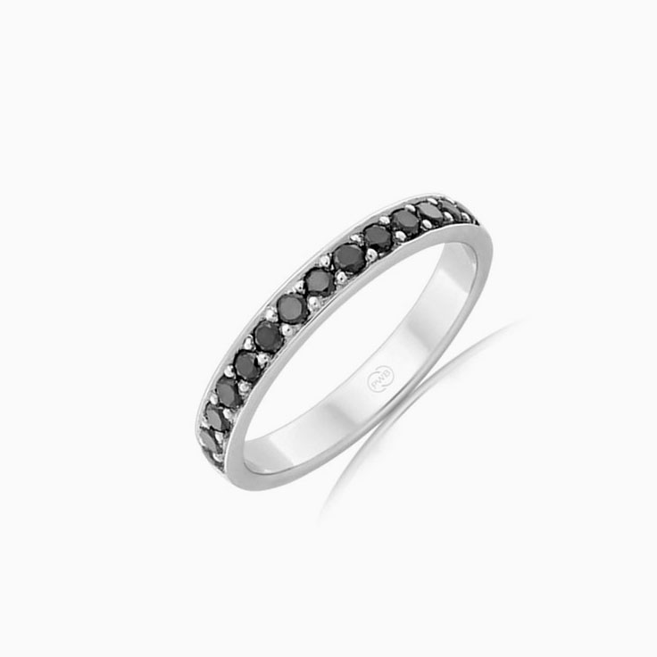 Black Diamond wedding ring B4284