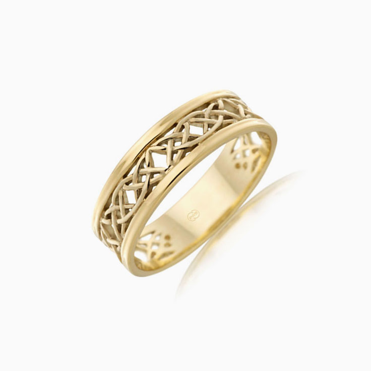 Mesh Pattern Mens Wedding Ring J2655