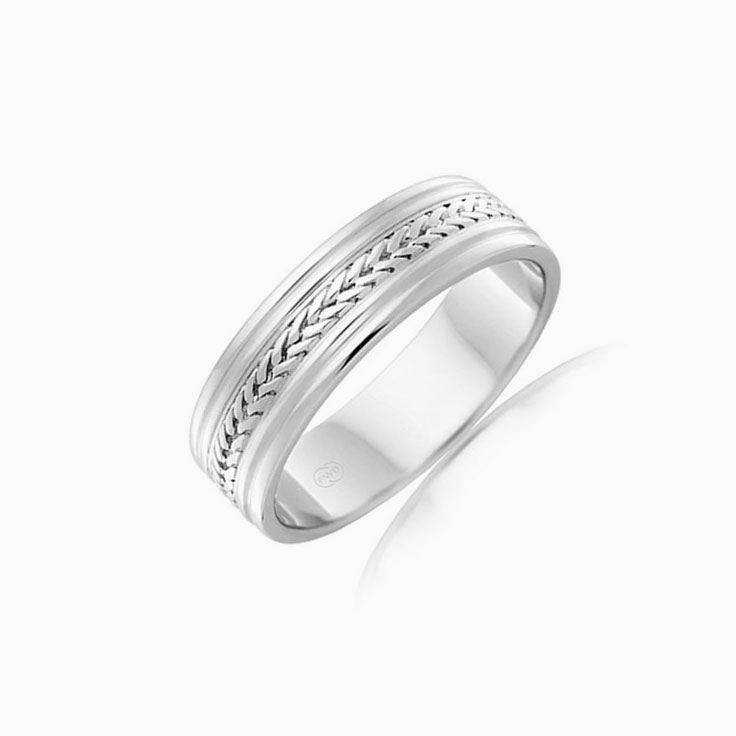 Centre Platted Mens Ring J1139