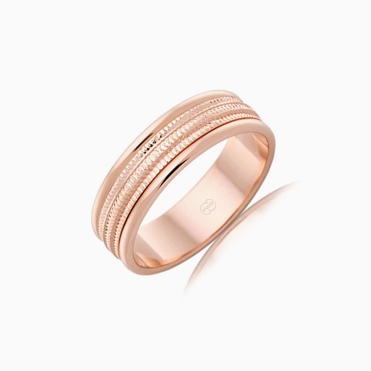 Carved Mens Wedding ring J1766