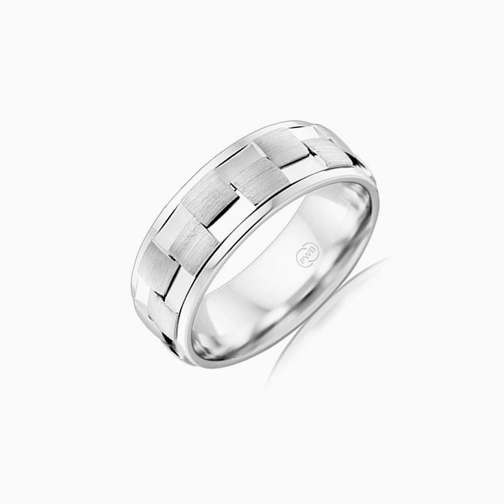 Patterned Mens ring J4164